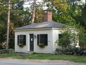 Federal-style Fiske Law Office (c. 1805) at 598 Boston Post Road after recent restoration
