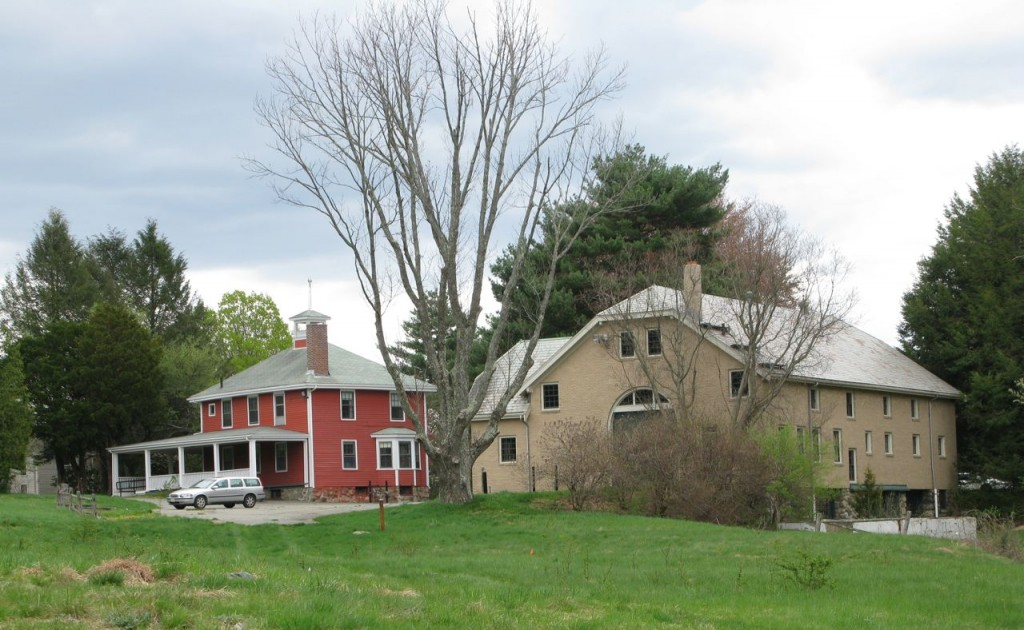 "Case Estates ""schoolhouse"" and barn at 133 and 135 Wellesley Street"