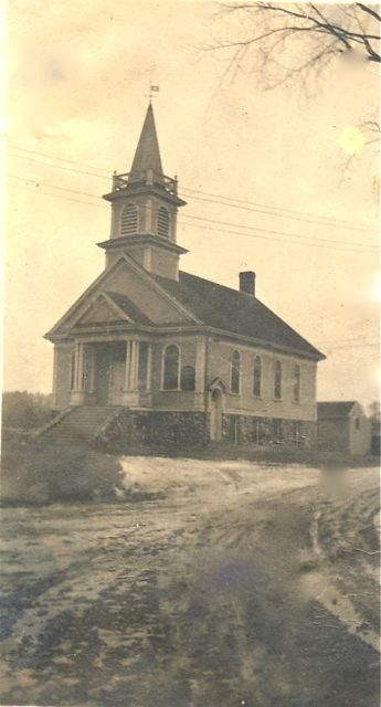 The Methodist Church building in 1899