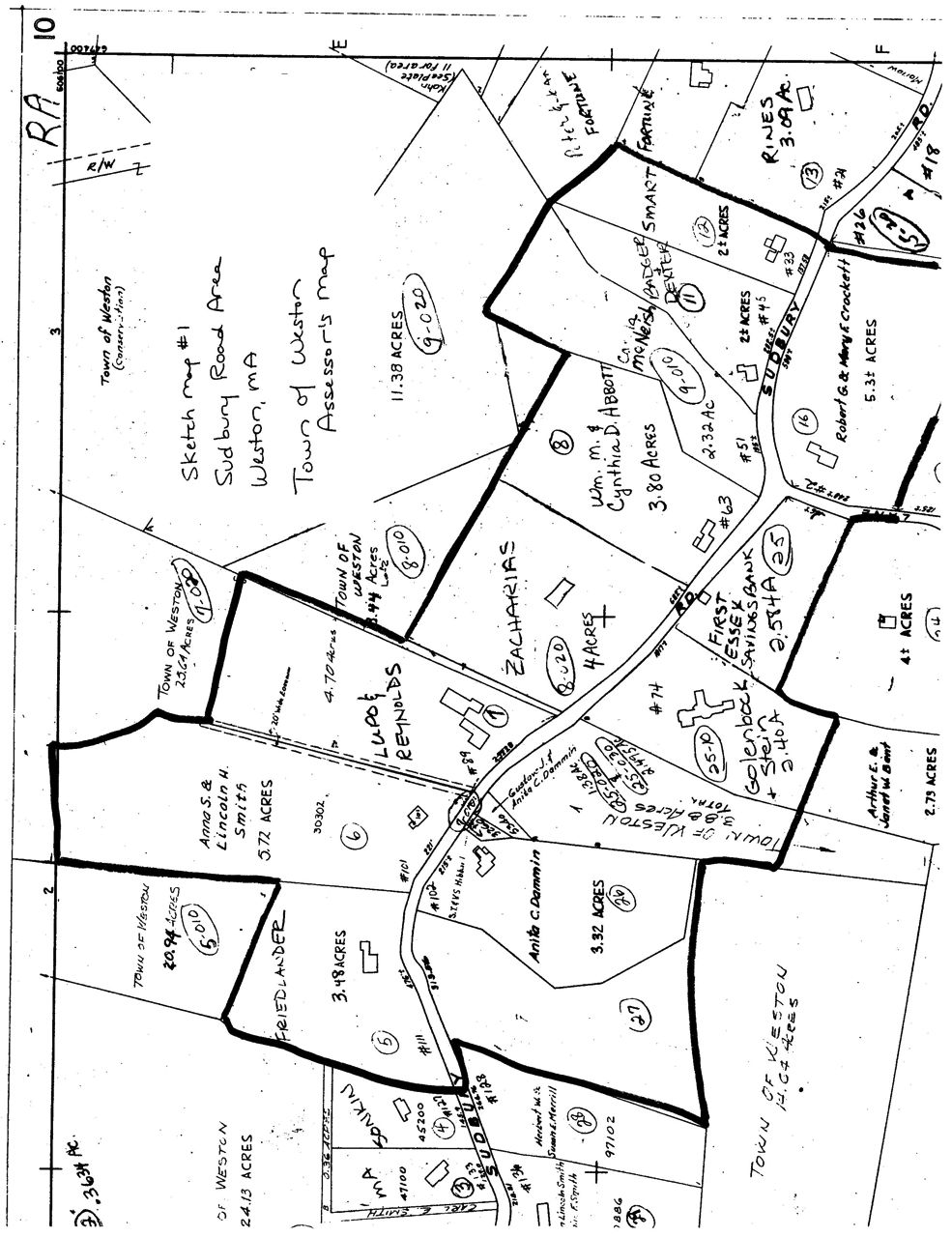 Sudbury Road Area sketch map