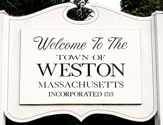 sign that reads Welcome to Weston