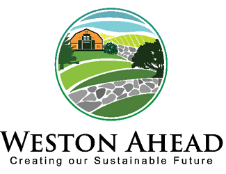 weston ahead logo of road and red barn
