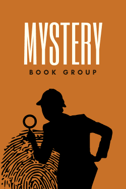 """mystery book group"" with sleuth and fingerprint"