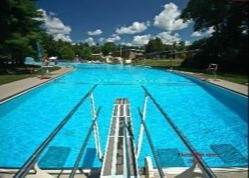 A view of Weston Memorial Pool from the diving board