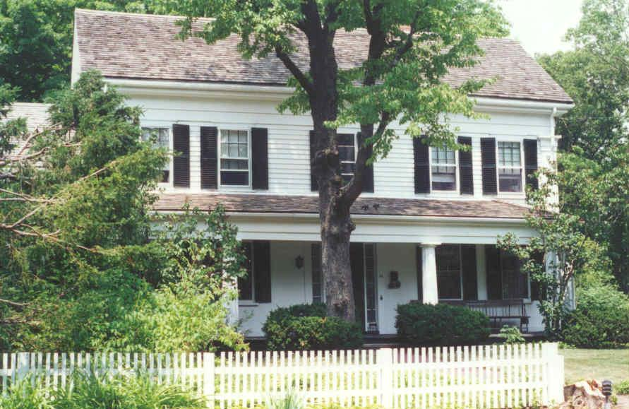A Greek Revival style house with fluted columns